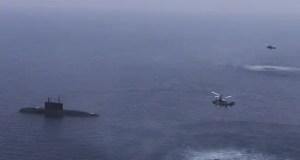 Подводные лодки Черноморского флота нанесли ракетный удар по корабельной группе условного противника