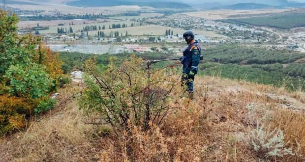 В районе Сахарная головка севастопольские пиротехники обнаружили более полутора сотен миномётных мин