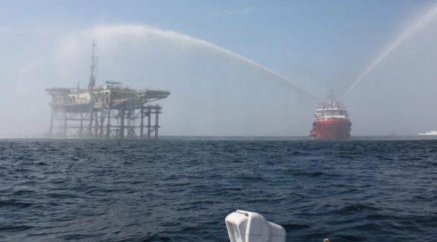 На буровой установке в Черном море провели антитеррористические учения
