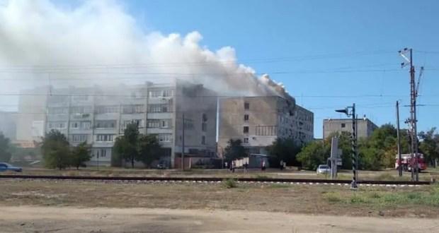 Пожар в Евпатории: горела пятиэтажка