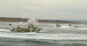 Экипажи катеров отряда специального назначения Черноморского флота уничтожили условного противника