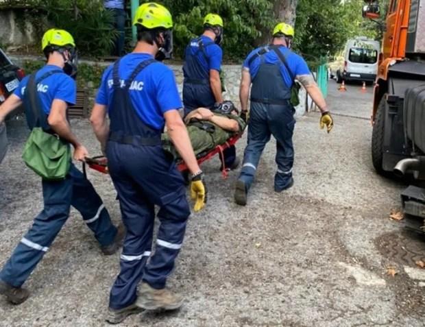 «КРЫМ-СПАС» отработал действия по ликвидации ЧС на канатной дороге