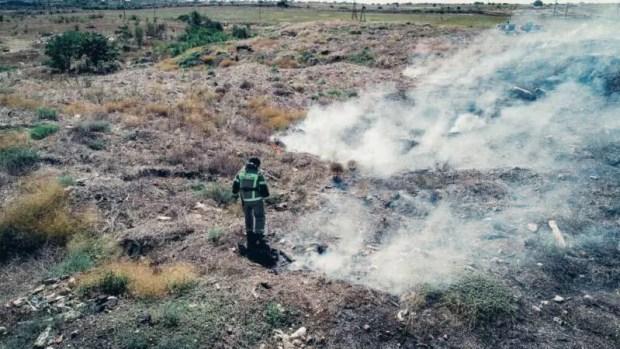 В Севастополе ликвидирован пожар площадью 1 гектар: горела трава в районе станции «Мекензиевы горы»