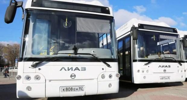В Симферополе на муниципальный маршрут №5 «Пневматика – Маршала Жукова» вышли новые автобусы