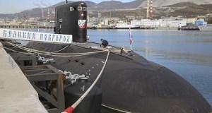Субмарина «Великий Новгород» Черноморского флота отработала ракетный удар по кораблям условного противника