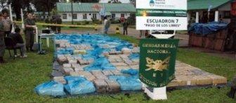 El cargamento secuestrado en Corrientes.