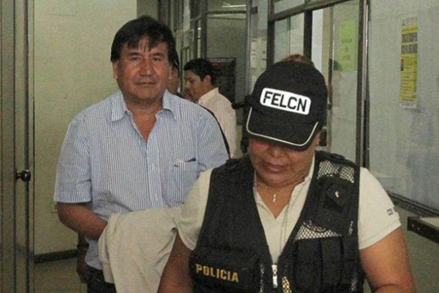 Sejas Rosales tras ser detenido en Bolivia.