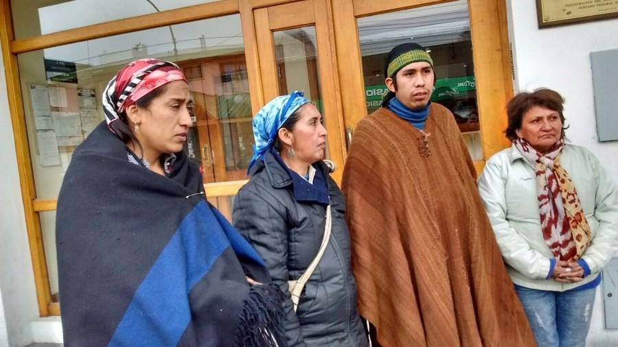 Testigos mapuches en el juzgado de Otranto.