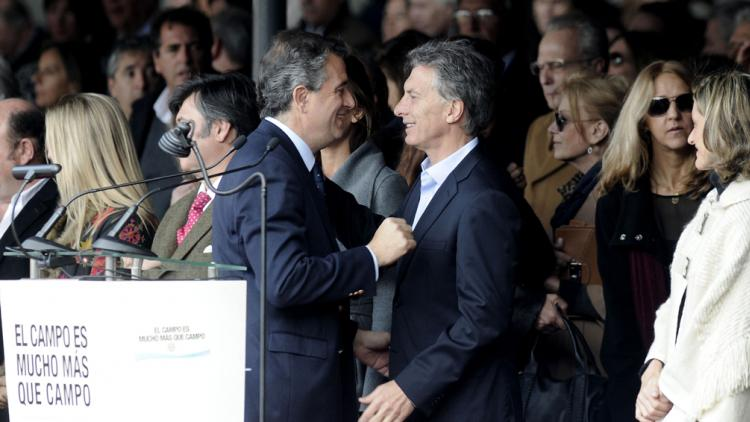 El ministro y el presidente Macri.