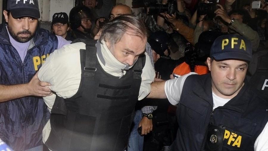 Pérez Gadín al momento de ser detenido.