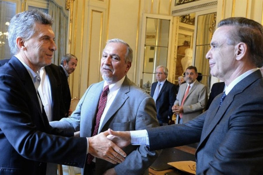 Macri recibió a Pichetto en la Casa Rosada.