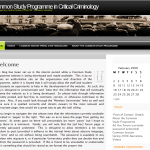 Webseite: Common Study Programme in Critical Criminology
