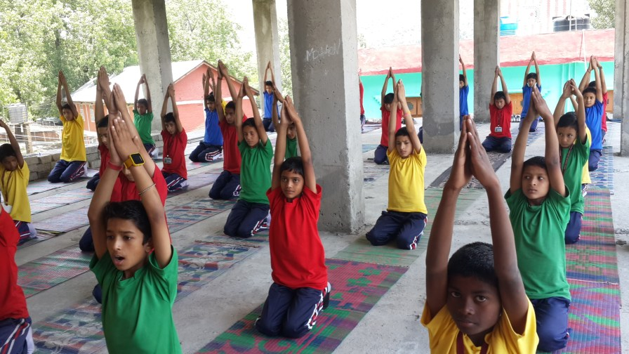 Children that practice yoga since early age get better chance of success in life