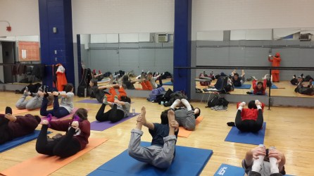 Some of the students are able to perform in yoga a good amount of flexibility