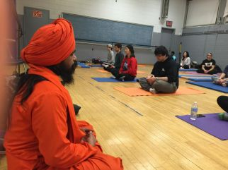 Meditation is done at the end of a yoga class