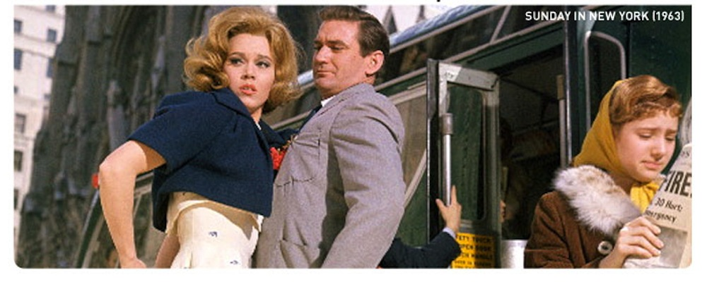 Jane Fonda and Rod Taylor on a Sunday in New York