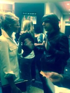 Eliza and Demetri catch up at the LA Film Fest premiere. ©Crimson Kimono