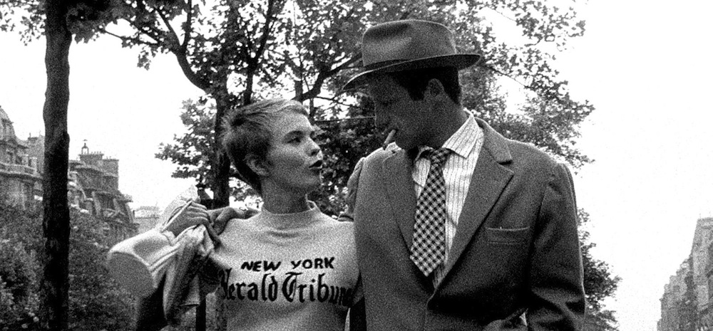 Belmondo and Seberg in BREATHLESS