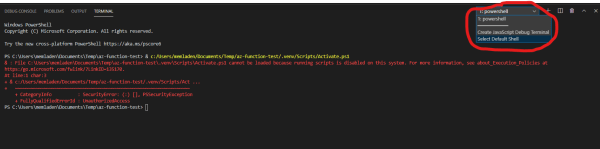 Select Default Terminal Shell in VS Code
