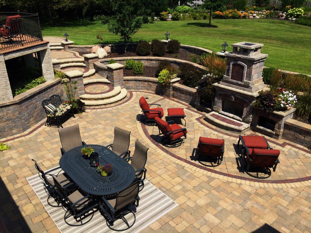 Hardscape Design / Brick Pavers - Crimson Valley Landscaping on Backyard Hardscape Design id=29527