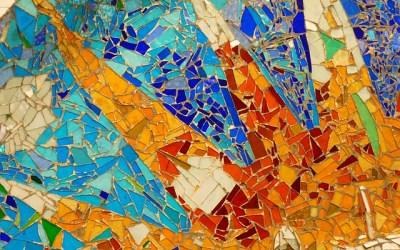 De geschiedenis van mozaïek en glas mozaïek