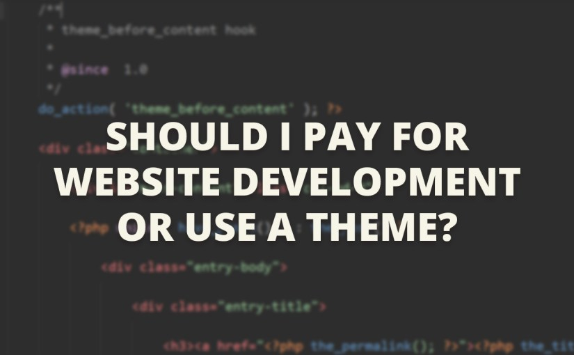 Should I Pay For Website Development Or Use A Theme?