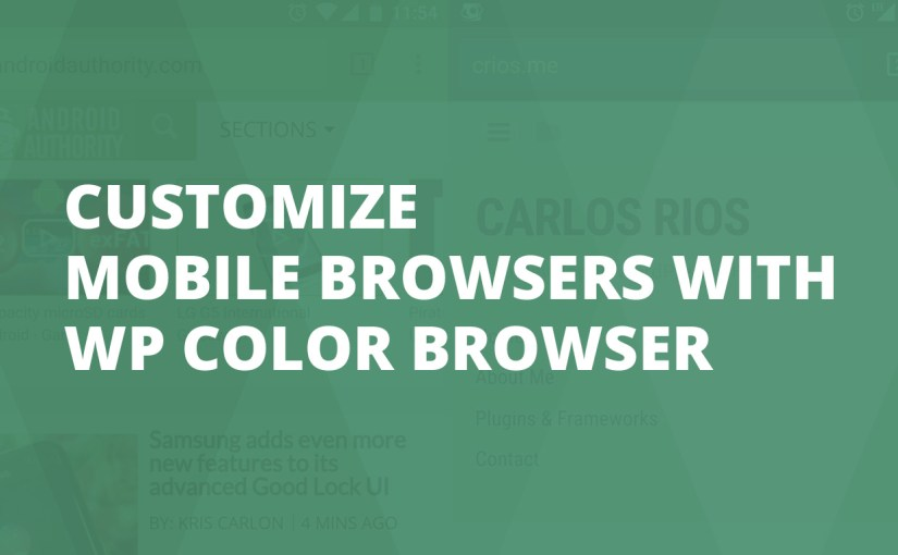 Customize Mobile Browsers With WP Color Browser