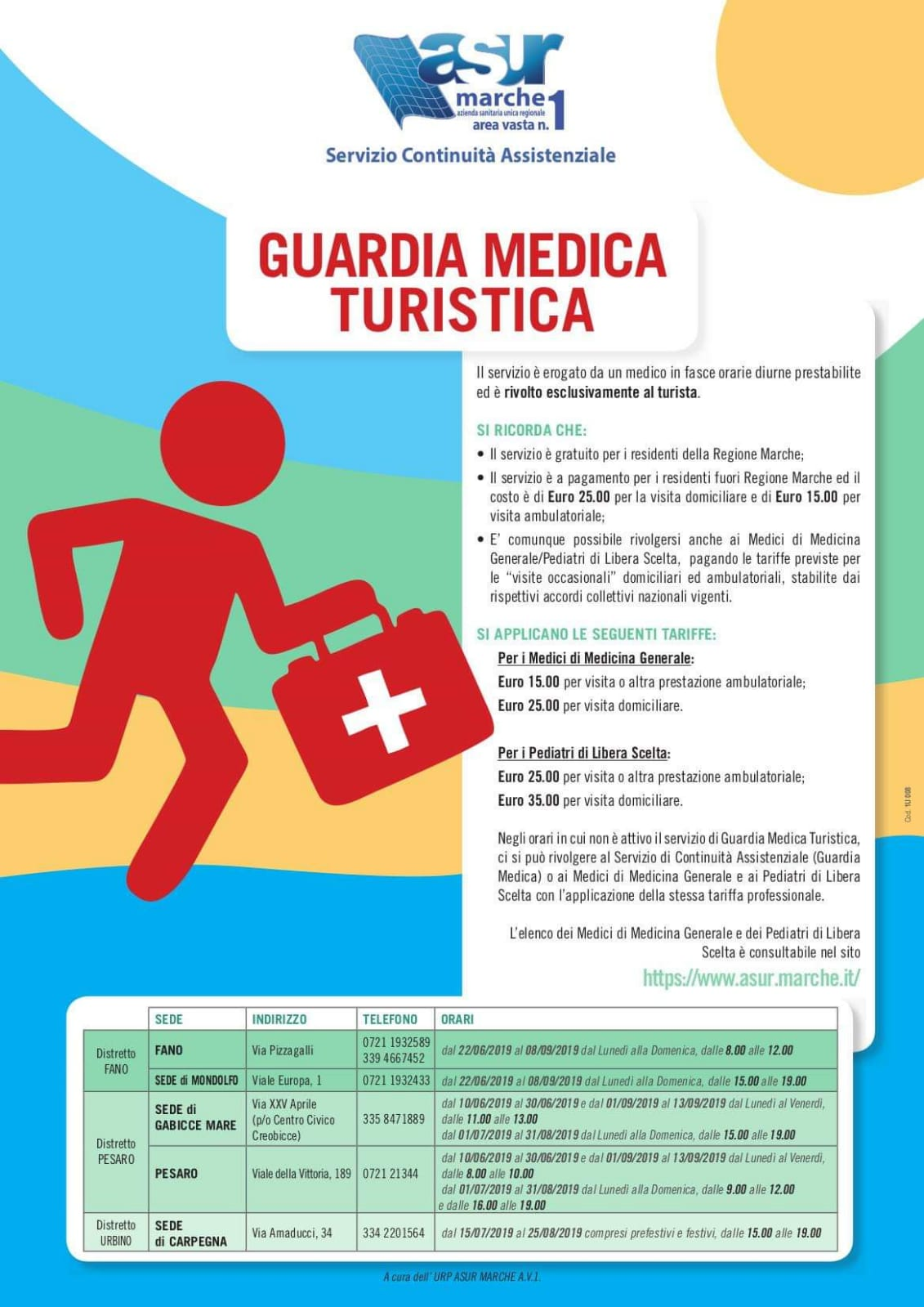 Guardia Medica Turistica 2019