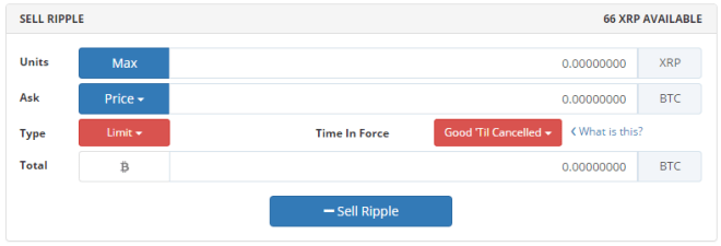 Sell-Ripple-Bittrex