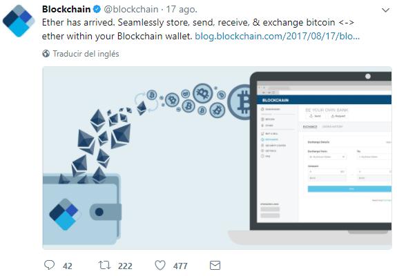 Ethereum-Billetera-Blockchain