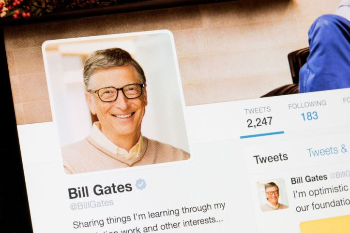 75365743 - riga, latvia - february 02, 2017: bill gates twitter profile.