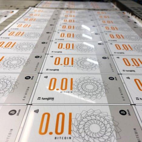 Tangem - Billetes digitales impresos