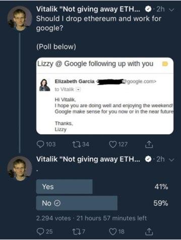 Vitalik Buterin - Encuesta
