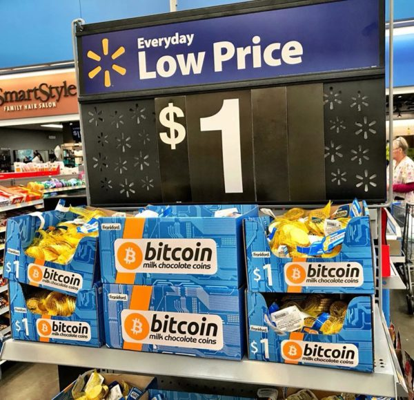 WalMart Bitcoin - Monedas de Chocolate.jpg