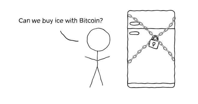 Can we buy ice with Bitcoin