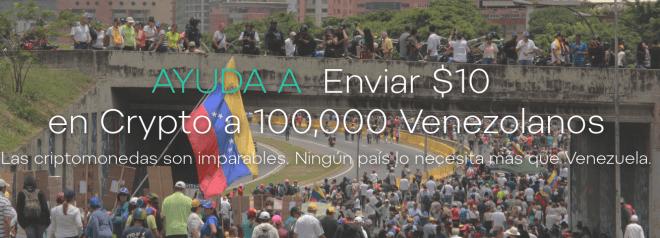 Airdrop Venezuela $10