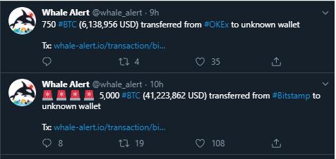 Alerta de las ballenas crypto en BTC