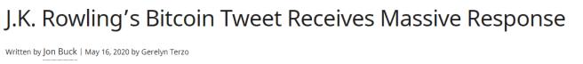 Este fue el titular que llevó a Rowling a trollear al cripto mundo.