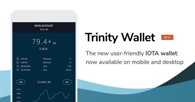 Trinity Wallet mobile app interface