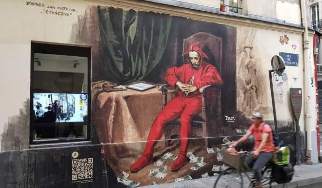 El mural de Bitcoin de Pascal Boyart, ha acaparado la atención en las calles parisinas.