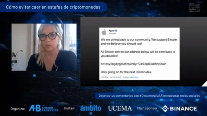 Daiana Gómez nos explicó cómo evitar estafas con criptomonedas durante DescentralizAR