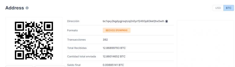 Binance se pronuncia sobre ataque a Twitter que logró estafar 12,86 BTC. Fuente: Blockchain.com