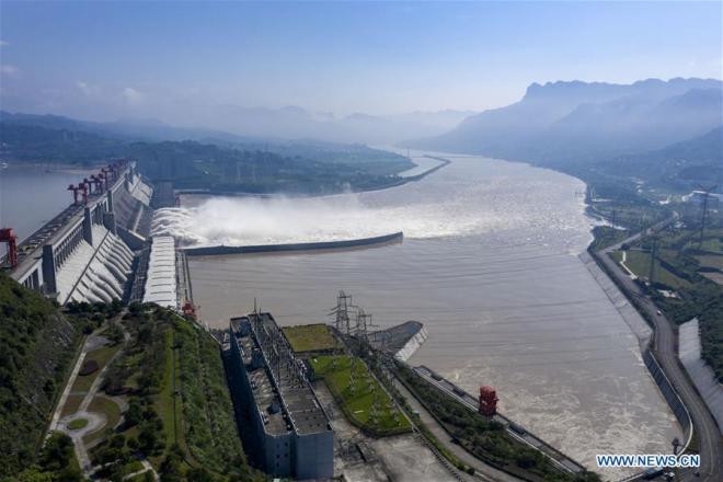 """La amenaza que representan las inundaciones para la minería de Bitcoin, podrían materializarse si colapsa la represa de """"Las Tres Gargantas"""". Fuente: Xinhua"""