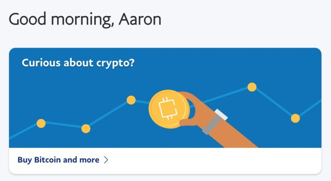 Paypal permite el uso de criptomonedas en su plataforma.