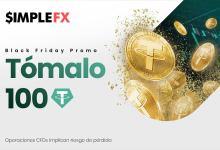 ¡SimpleFX ofrecerá 100 Tether a todos los Traders en Black Friday!