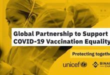 Binance Charity le dona USD 1 millón a Unicef para la vacuna COVID-19