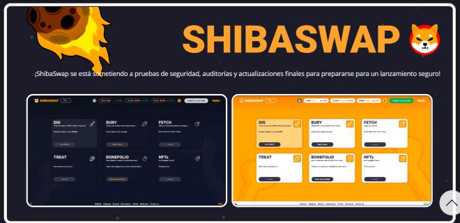 Shiba Swap aún no está en línea. Fuente: SHIBA TOKEN.