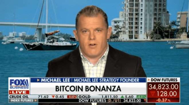 According to Michael Lee, the future of Bitcoin is independent of external factors such as regulations and obstacles that are tried to be put.  Source: Fox Business Screenshot