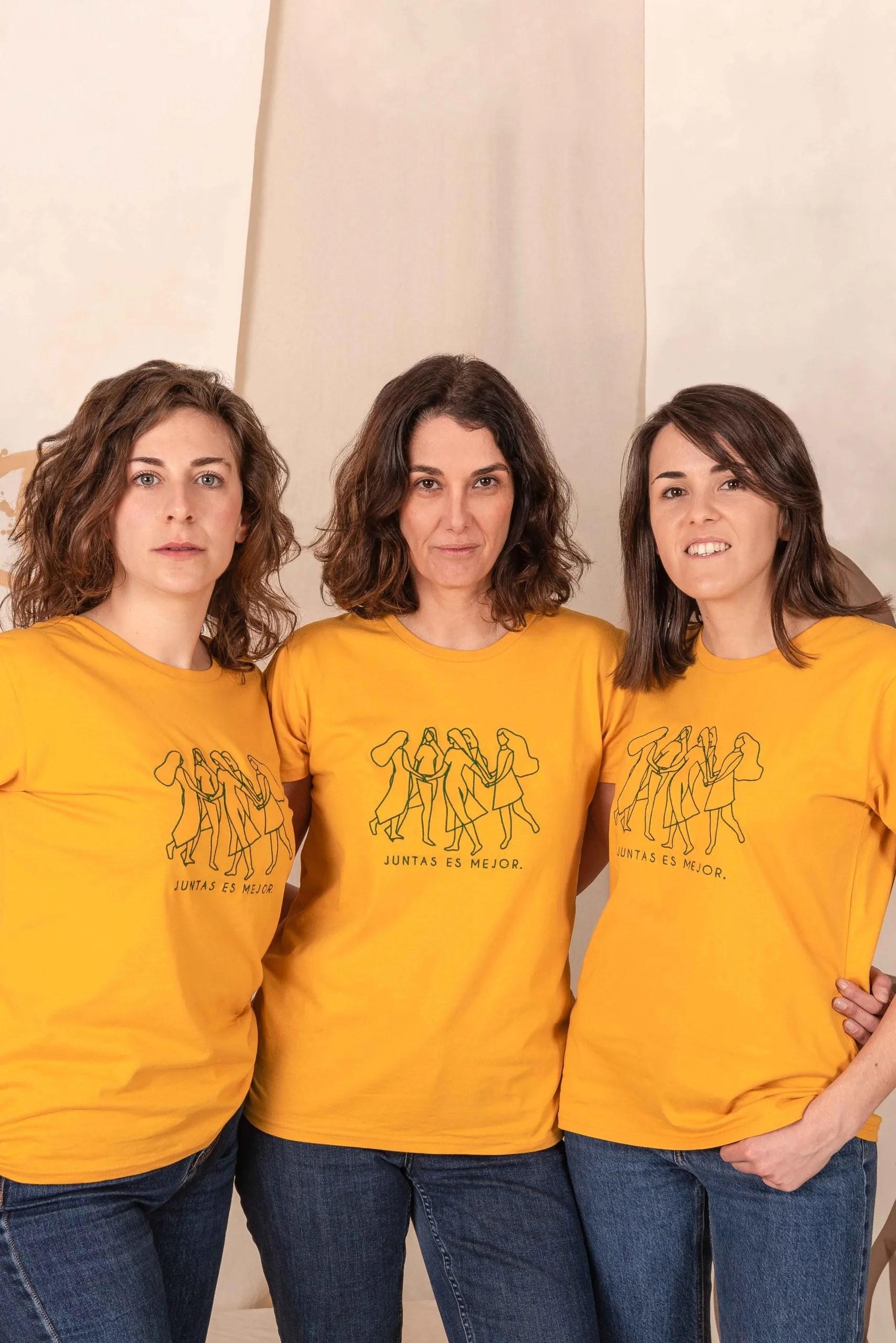 Camiseta Algodón Orgánico Mostaza Juntasesmejor1 Crisálida