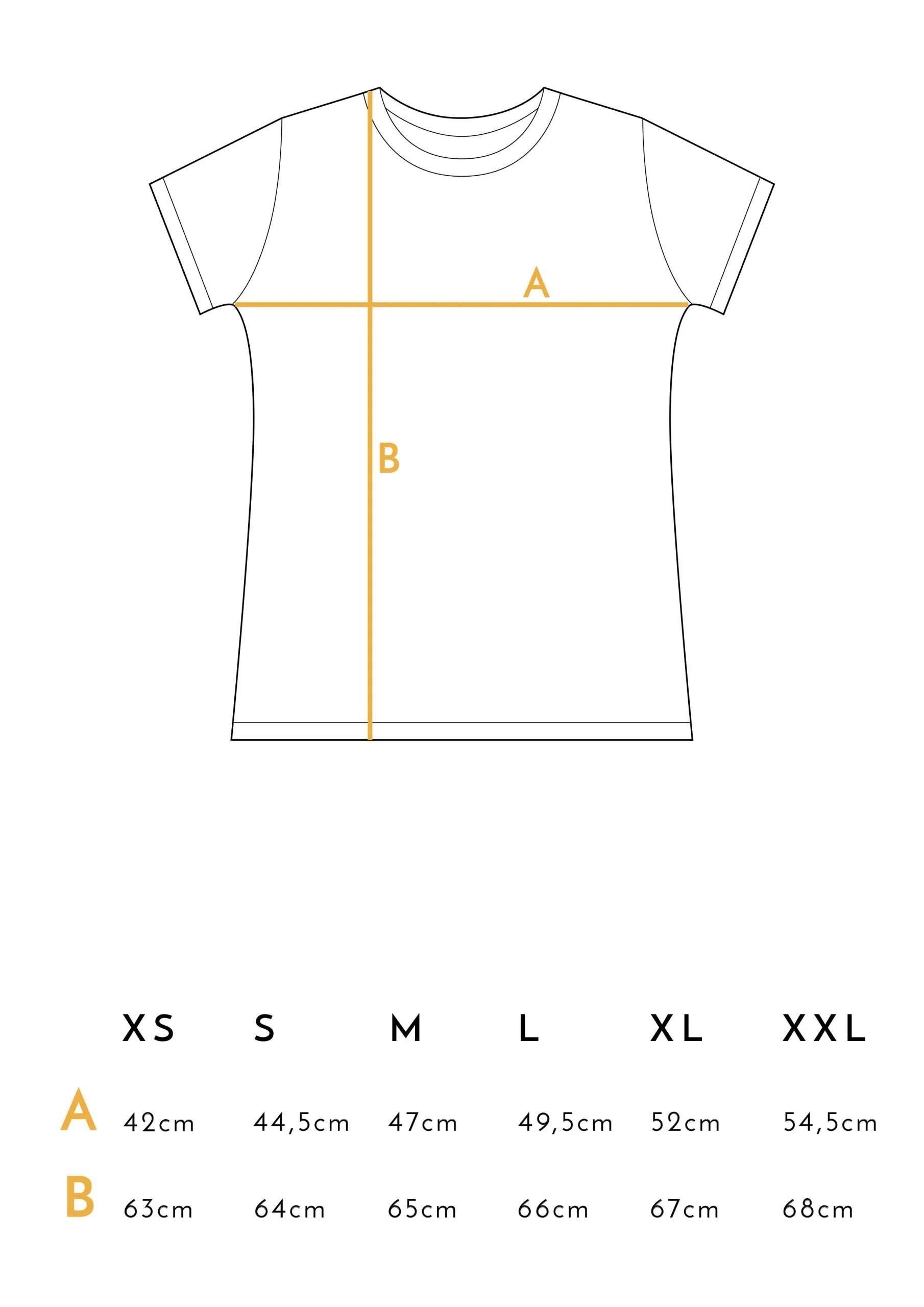 Medidas Camisetas Juntas es mejor Mostaza